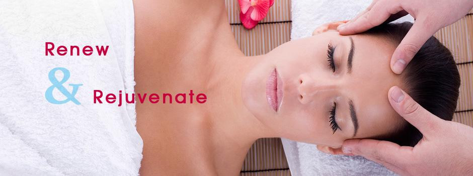 renew and rejuvenate with a facial