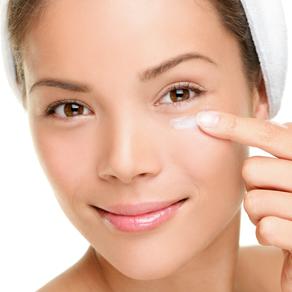 Woman receiving a rejuvenating eye treatment.