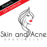Gift certificates for skin care products